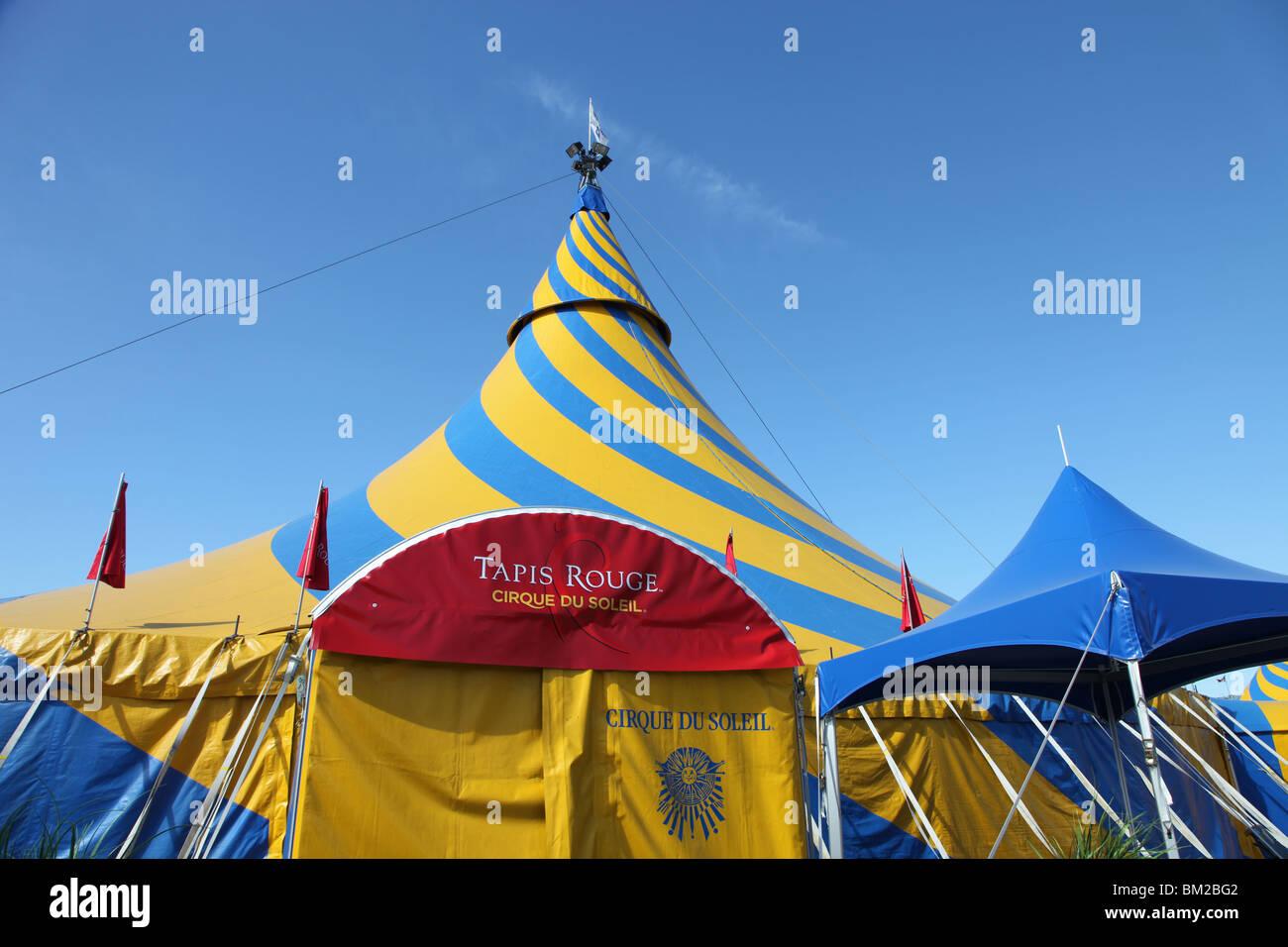 Cirque du Soleil Tapis Rouge (Red Carpet) tent & Cirque du Soleil Tapis Rouge (Red Carpet) tent Stock Photo ...