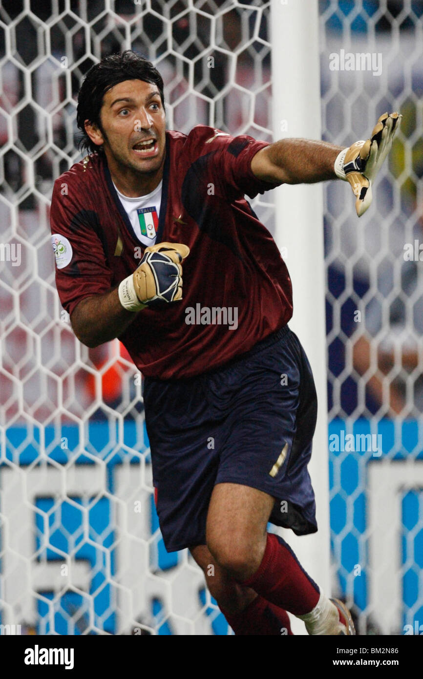 Goalkeeper Gianluigi Buffon of Italy in action during a FIFA World