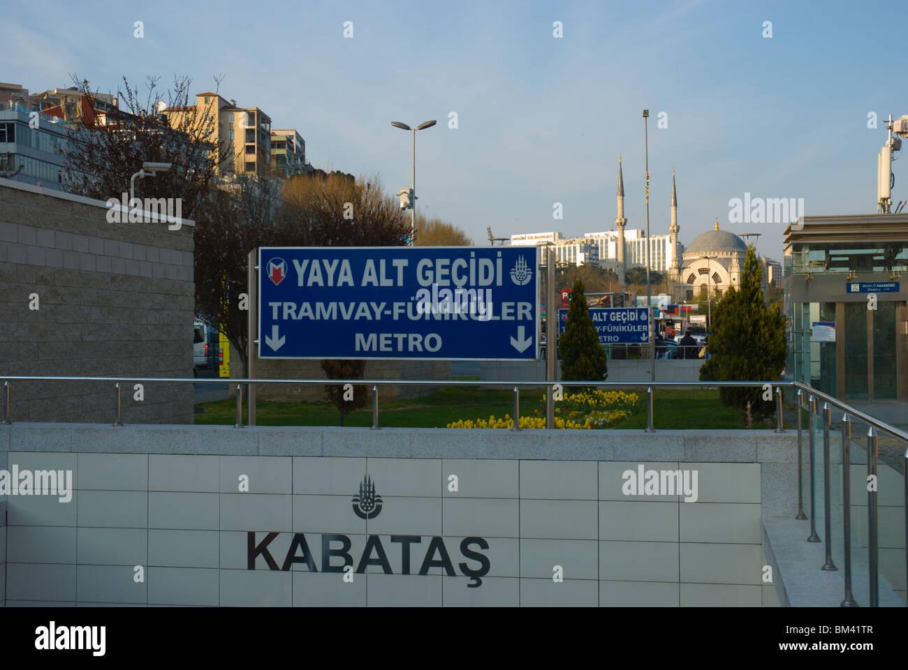 Beyoglu Turkey  city photo : ... public transportation station Beyoglu district Istanbul Turkey Europe