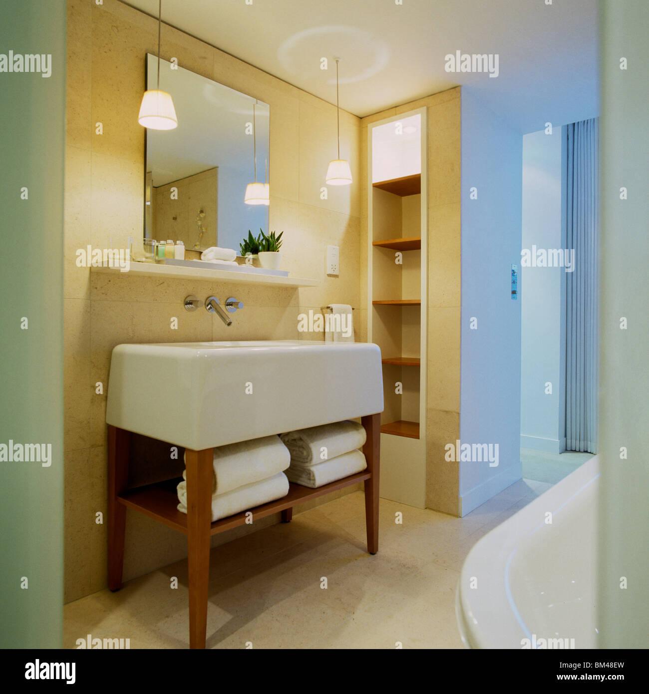 Hotel Bathroom Designed By Philippe Starck, St Martins Lane Hotel, London