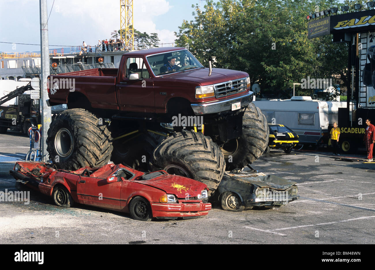 Giant Truck Modified Or Customized Car With Oversize Tyres