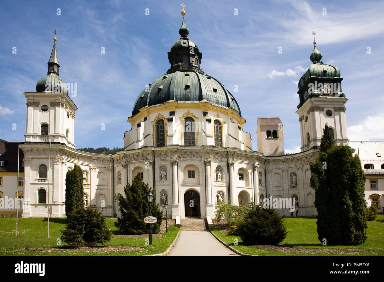the baroque style ettal abbey kloster ettal at ettal in. Black Bedroom Furniture Sets. Home Design Ideas