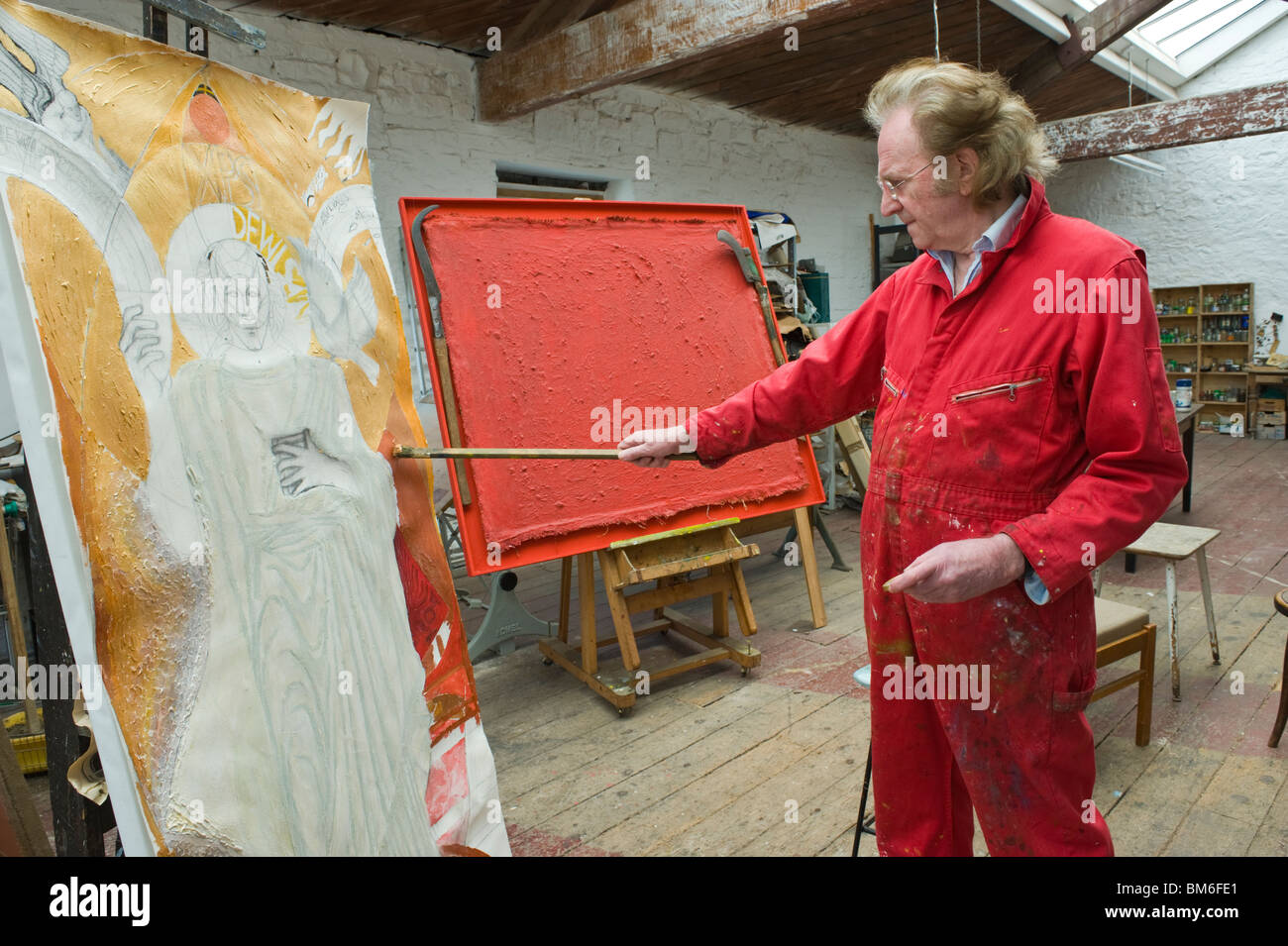 Ivor Davies Welsh artist pictured at his studio in Penarth Vale of  Glamorgan South Wales UKIvor Davies Welsh artist pictured at his studio in Penarth Vale of  . Artist Studio Furniture Uk. Home Design Ideas
