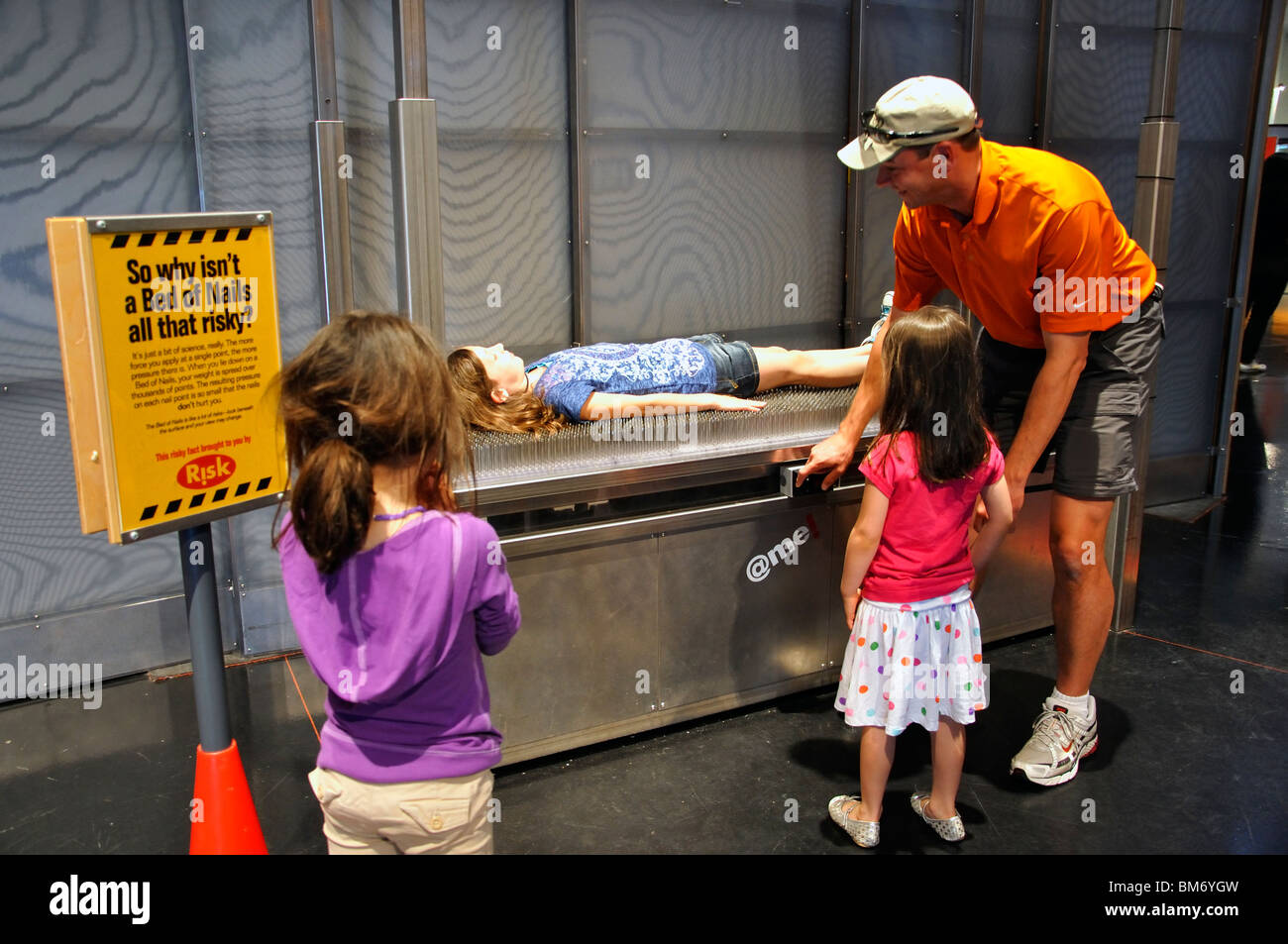 Bed Of Nails NASA Museum Houston Texas USA Stock Photo - Nasa museums in usa