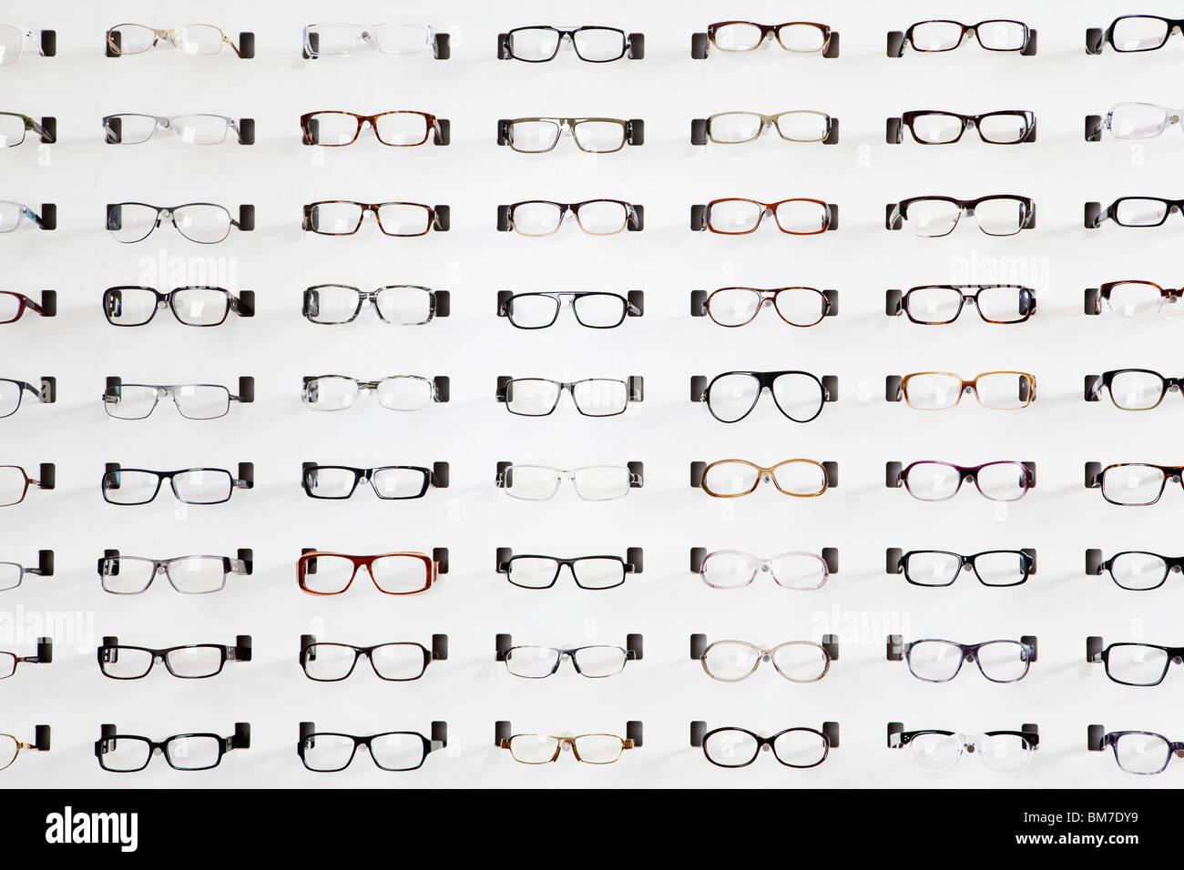 Eyeglasses display - An Eyeglasses Display In An Eyewear Store