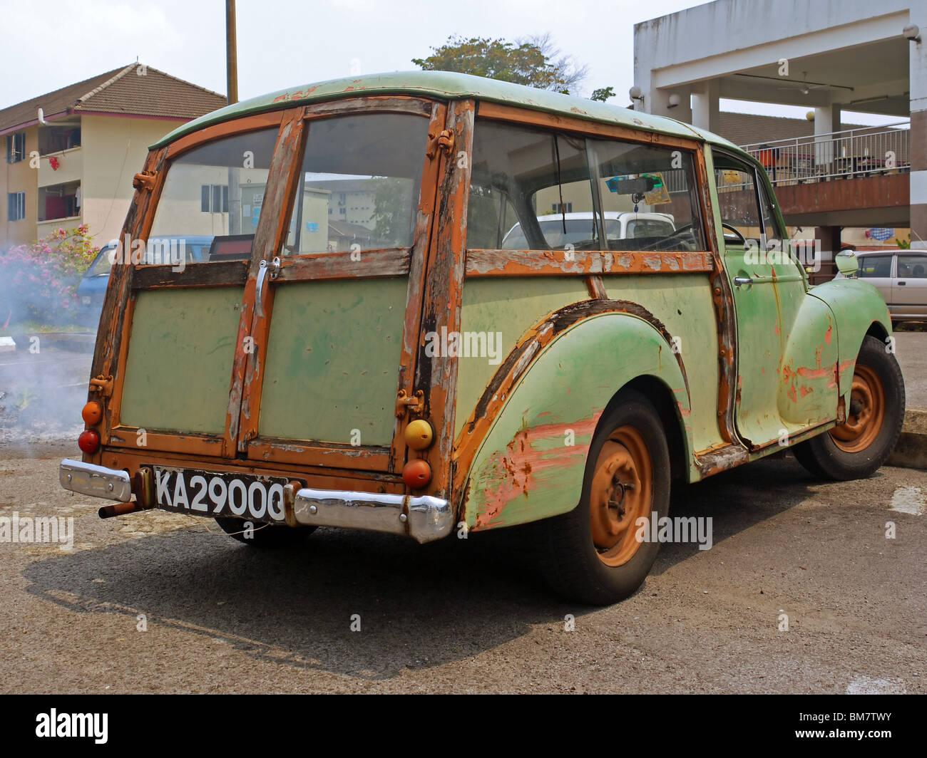 Car sticker design kuching - Very Old Morris Minor Car In Kuching Malaysian Borneo Stock Image