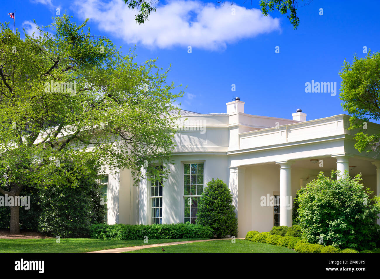 The Oval Office Exterior With Garden The West Wing Of The