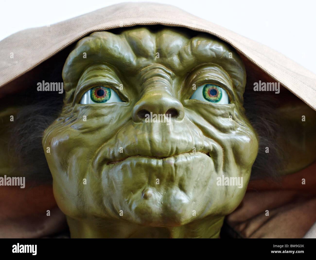 Master Yoda, Star Wars Alien Face Close Up Stock Photo