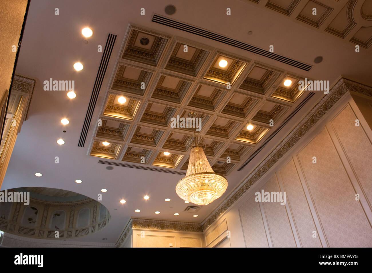 Stock Photo   Ceiling Banquet Hall Lighting Fixtures