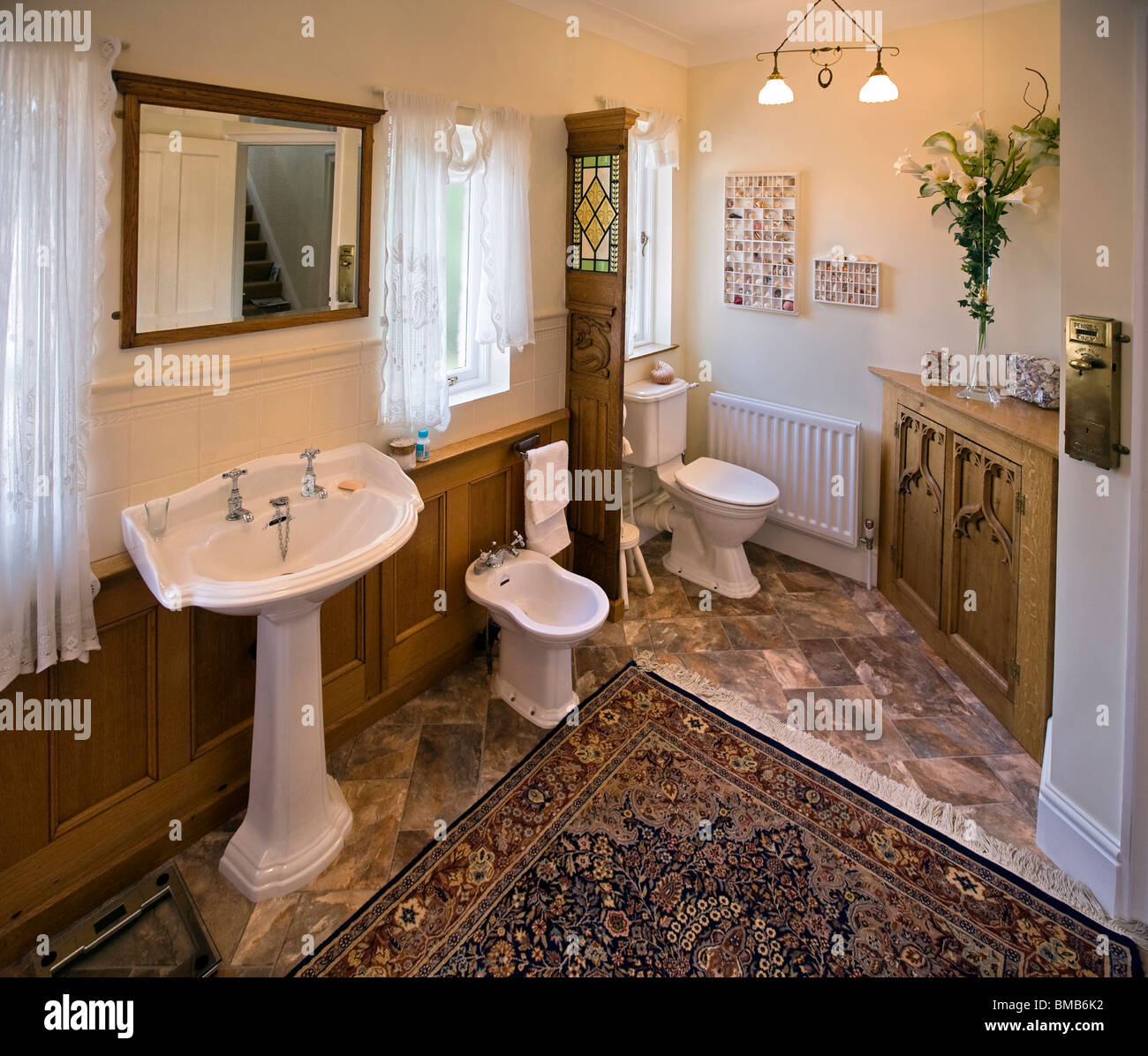 Houses Edwardian Arts And Crafts House, Oak Panelled Bathroom