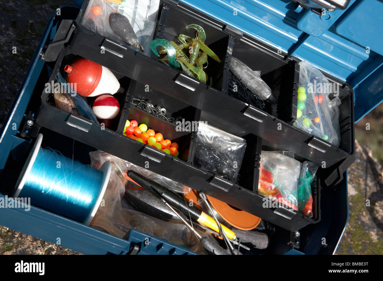 fishing tackle box filled with sea fishing gear and rod uk stock, Fishing Rod