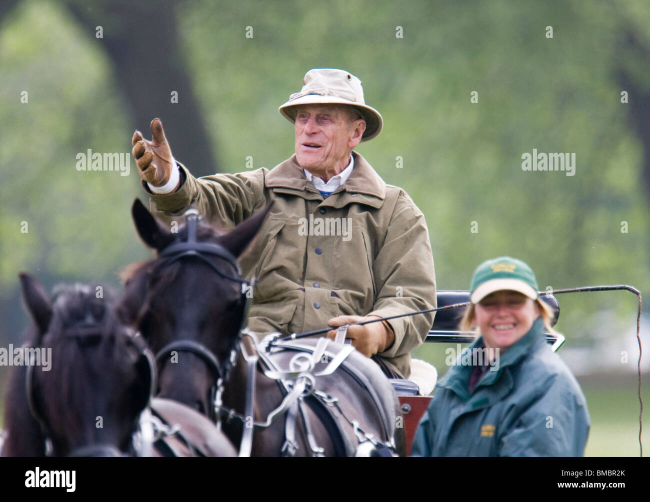 Prince Philip Riding His Carriage In Windsor Home Park And Viewing The Event At Royal Horse Show