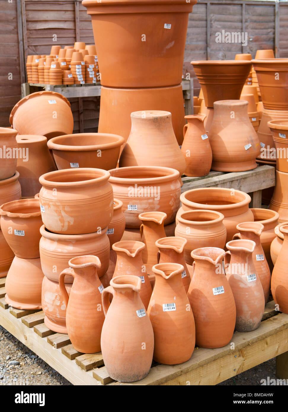 Ceramic Pots For Sale Part - 36: Stock Photo - Terracotta Pots For Sale