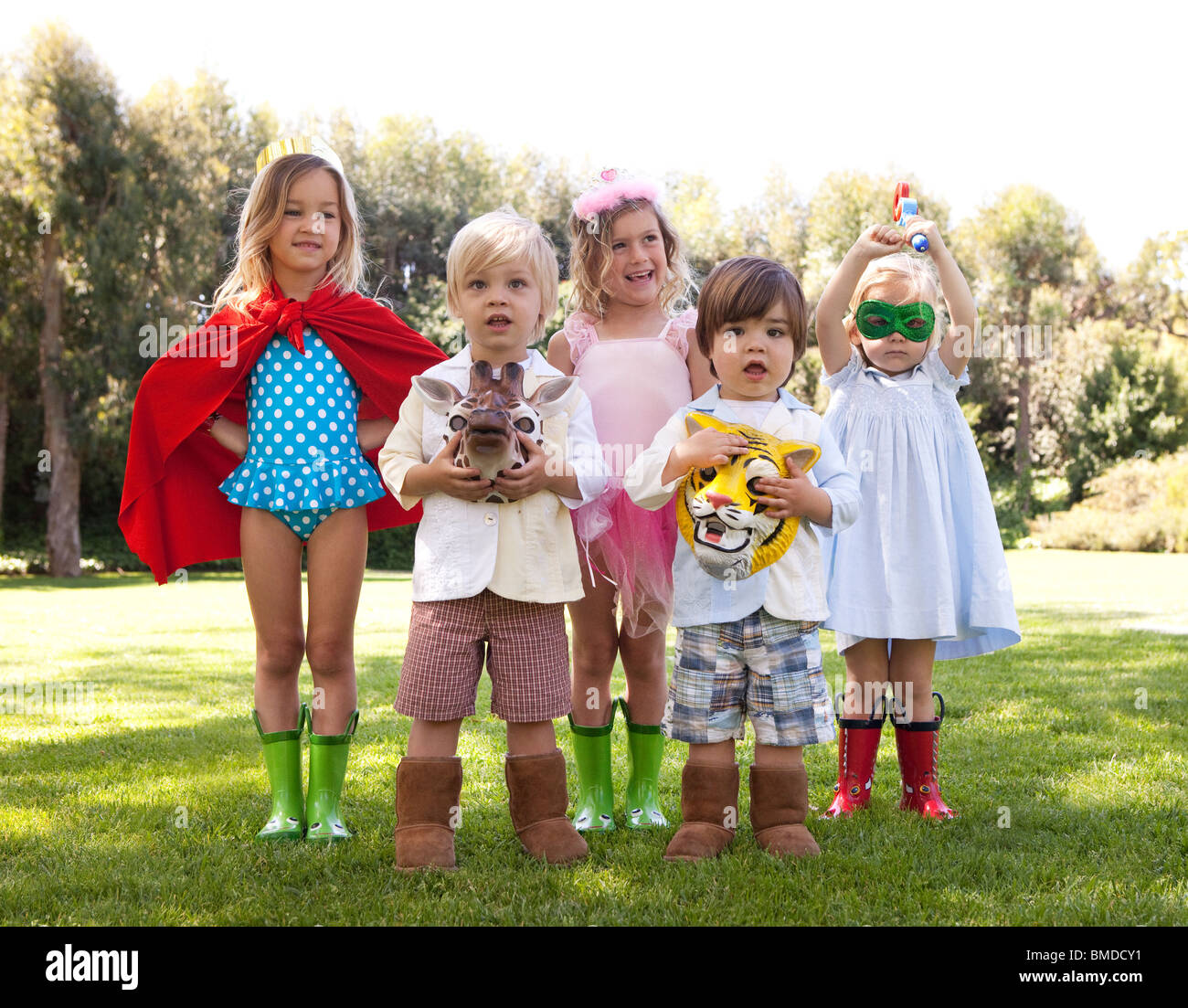 Dress Up Pretend Play Images On: Group Of Kids Playing Dress Up Stock Photo, Royalty Free