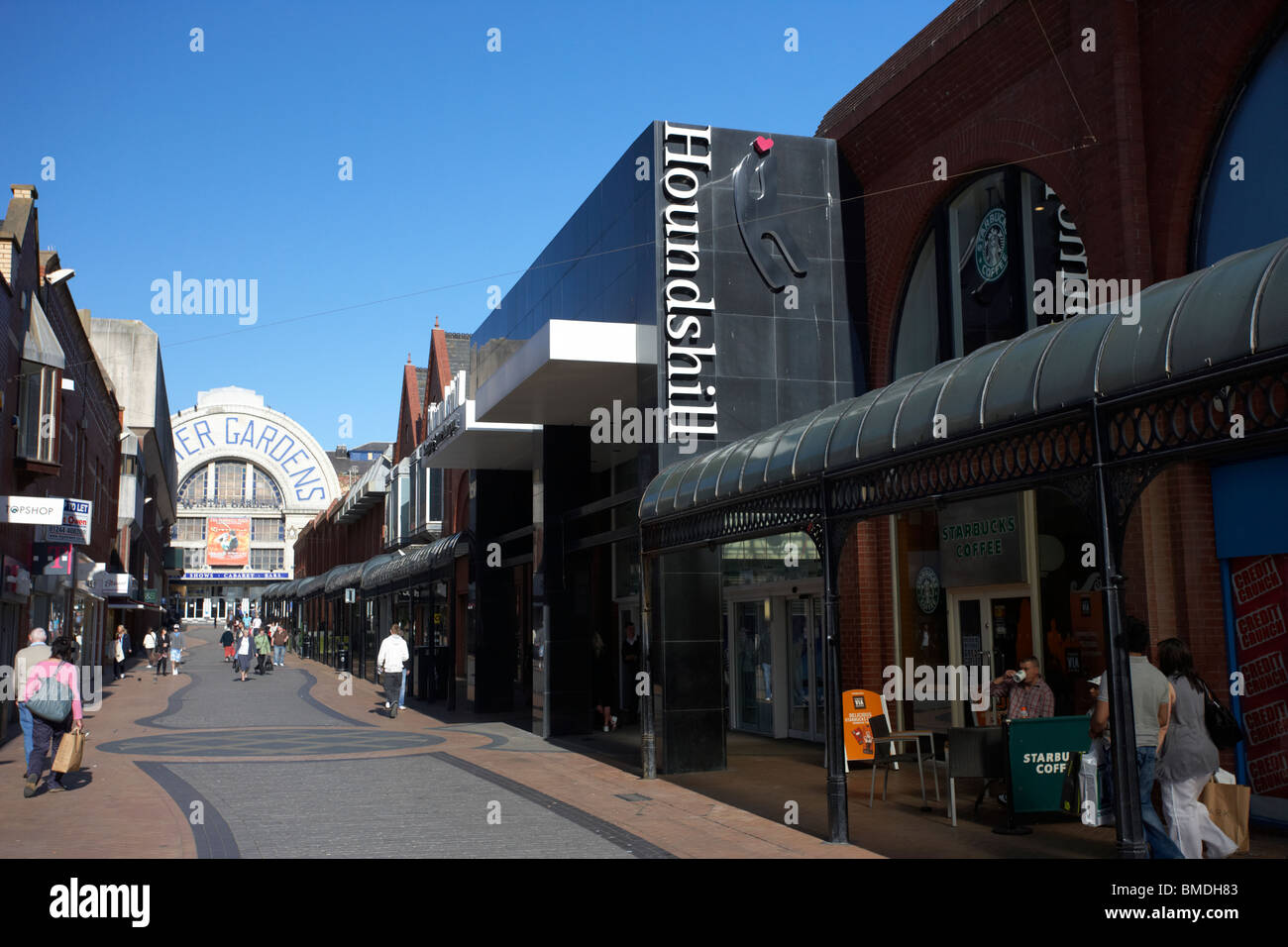 houndshill shopping centre leading to winter gardens theatre stock