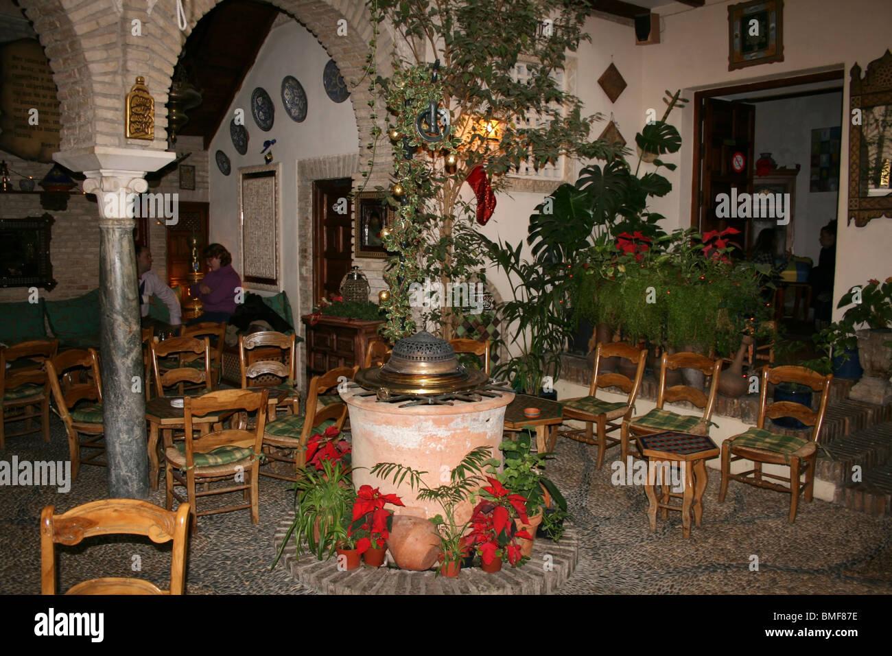 Indoor Patio Of Moroccan Style Tea House