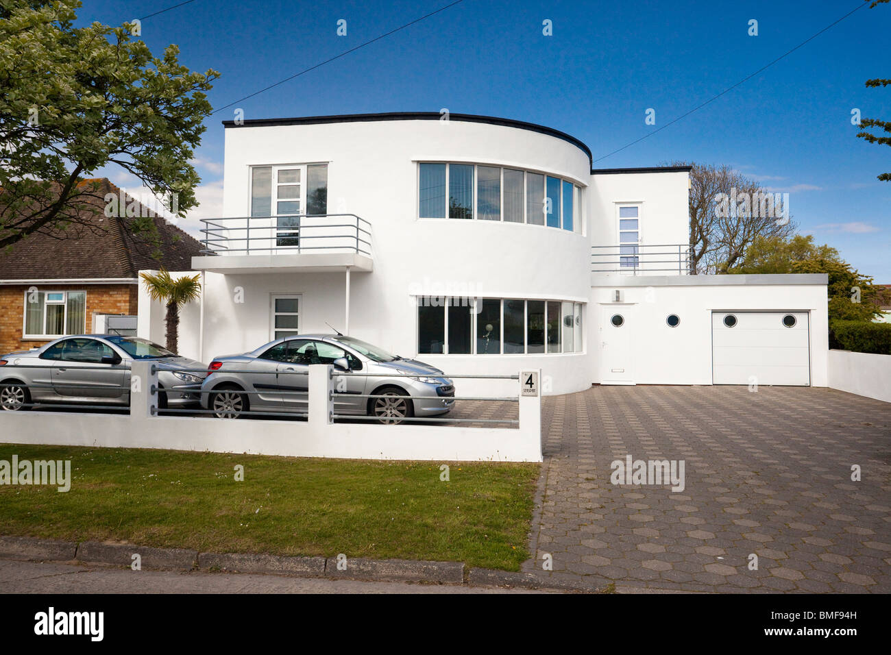 Art Deco style house at Frinton On Sea, Essex, UK
