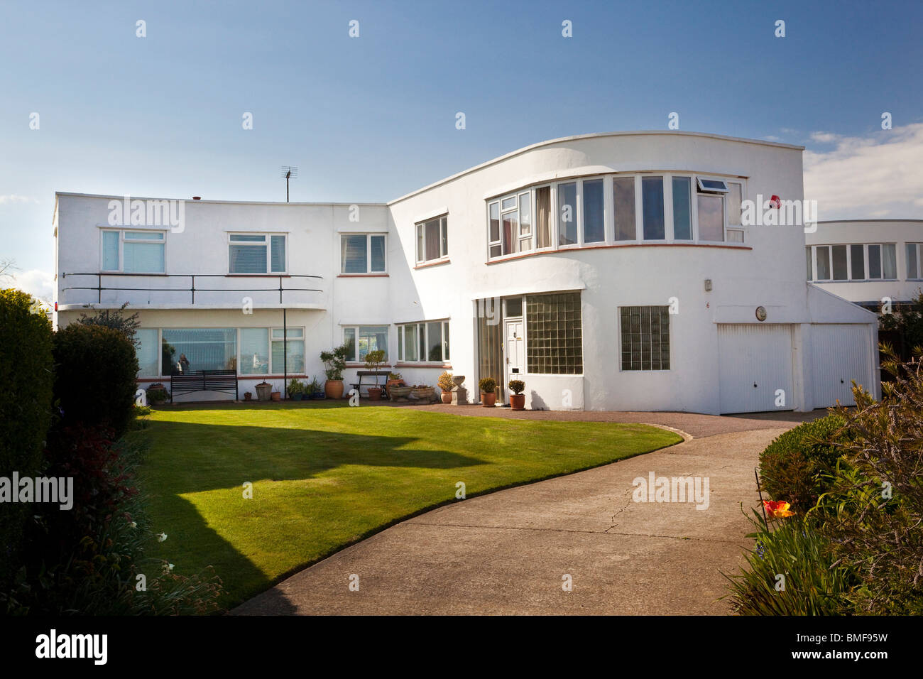 modern Art Deco style house at Frinton On Sea, Essex, UK