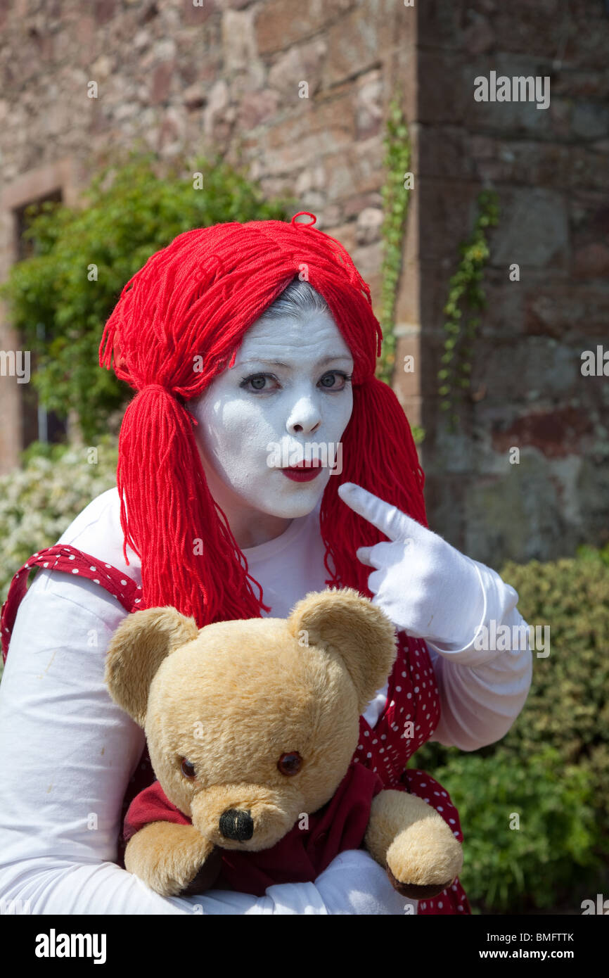women u0027s rag doll fancy dress a woman dressed as rag doll with red