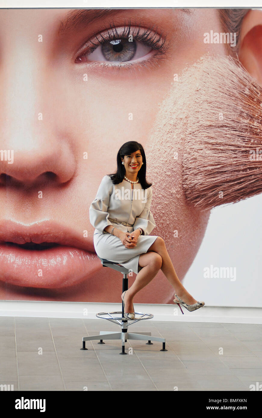 Stock Photo - Andrea Jung, CEO of Avon Products Inc., at the new UK HQ in Northampton