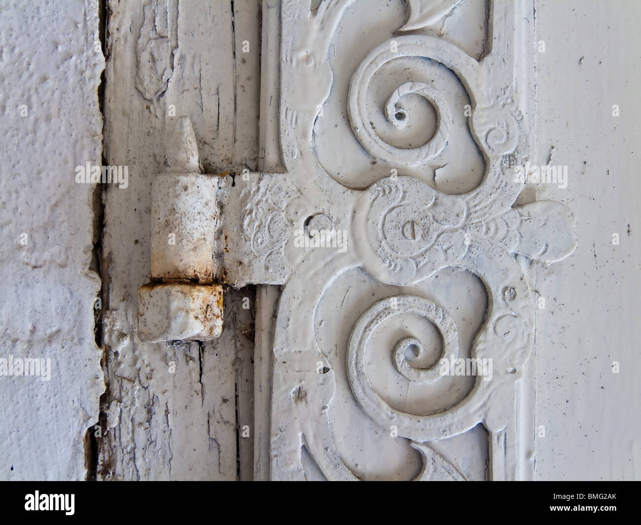 Old hinge of a door of a dwelling Stock Photo, Royalty Free Image ...
