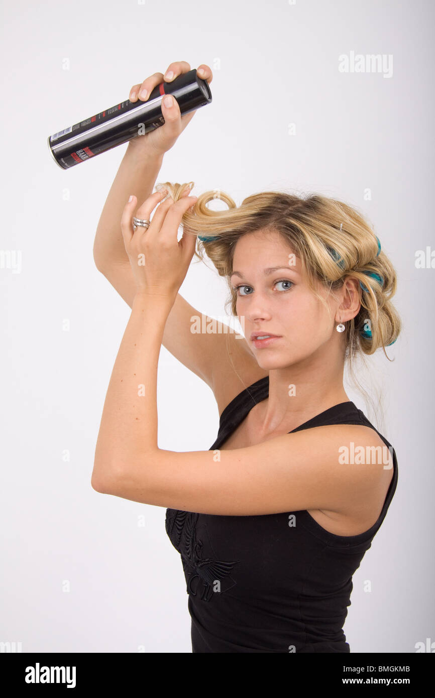 Spray The Hair Stock Photo Royalty Free Image 29870187