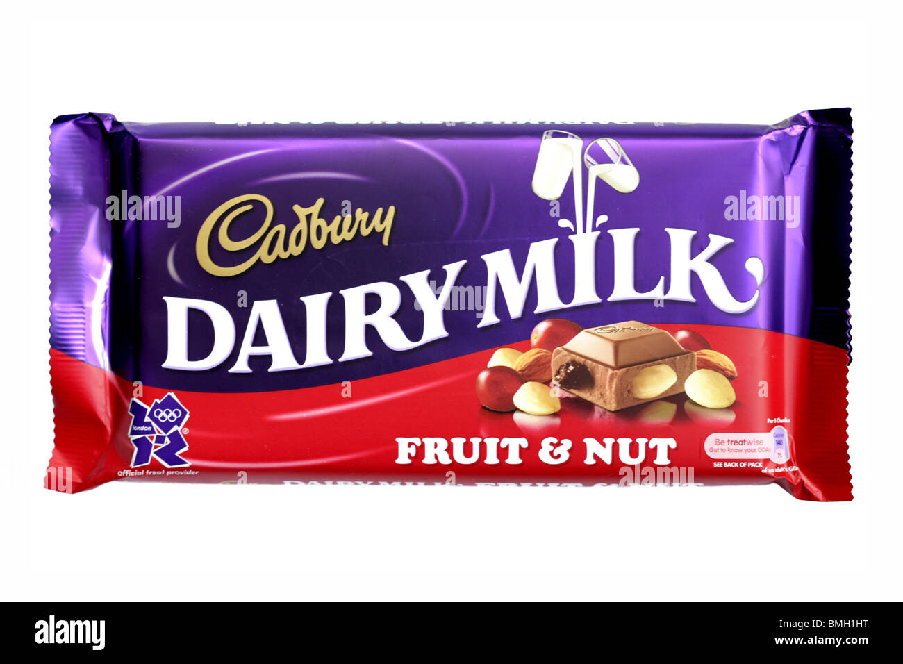 Cadburys Fruit and Nut Chocolate Bar Stock Photo, Royalty ...