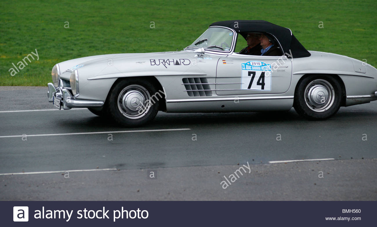Old convertible old mercedes benz classic sports car stock for Mercedes benz sports car convertible
