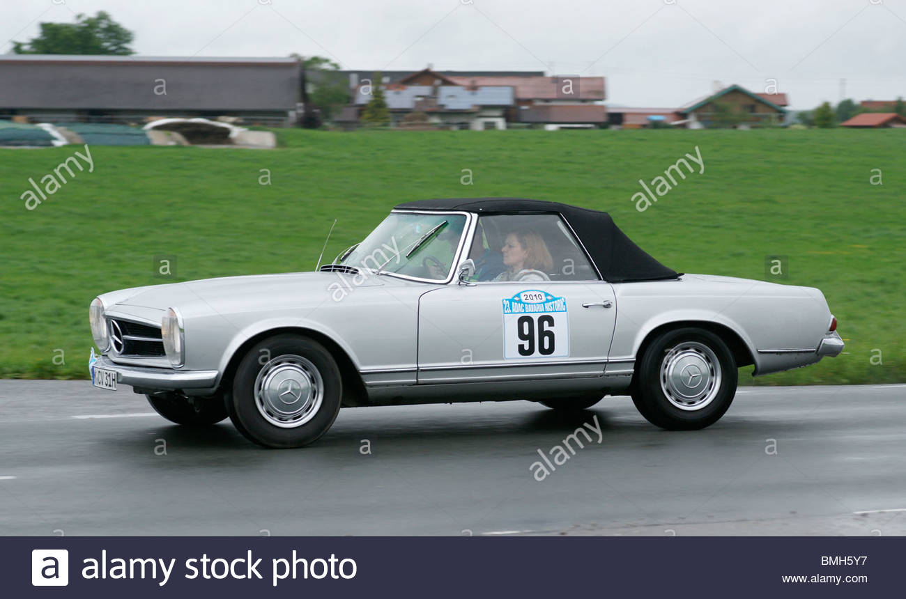 Old convertible mercedes benz classic sports car stock for Sports car mercedes benz