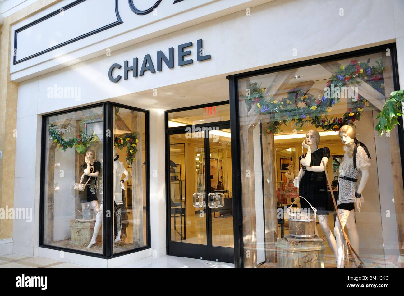 chanel store at bellagio hotel las vegas nevada usa