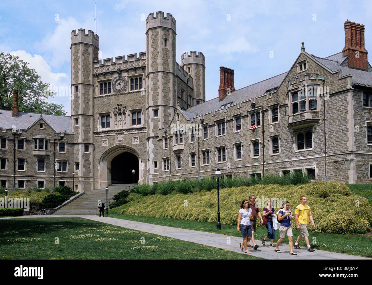 USA Princeton University Campus Blair Hall Students ...