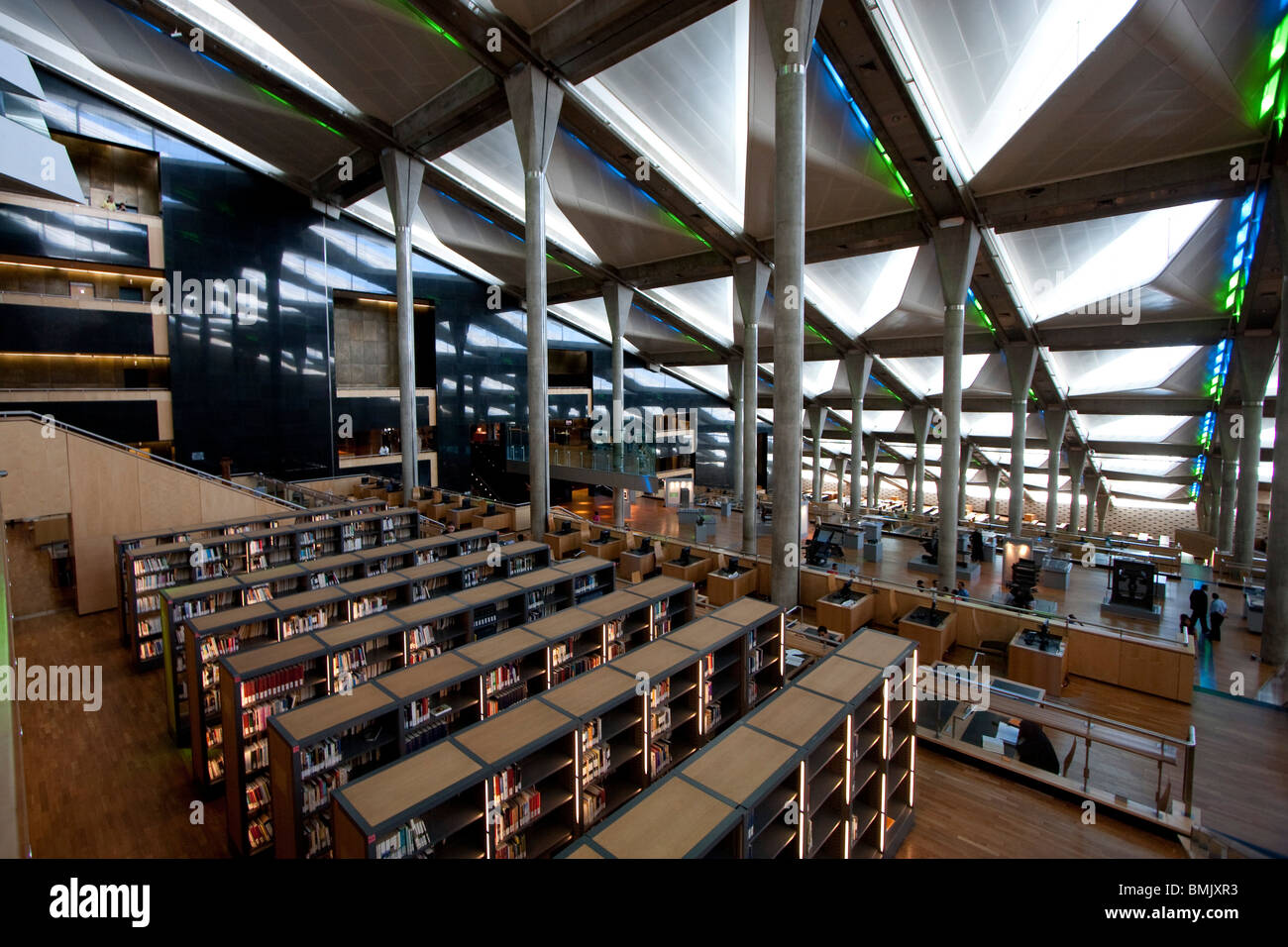 Interior view of reading room in the bibliotheca alexandrina the stock photo royalty free image Kitchen design in alexandria egypt