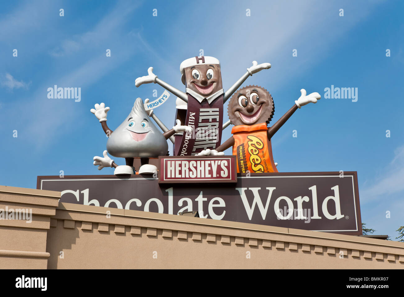 Hershey, PA - Sept 2009 - Candy cartoon characters on sign at ...