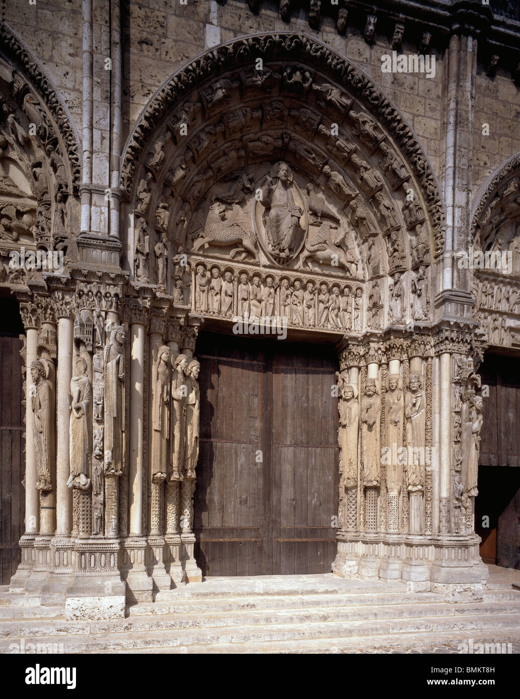 Chartres cathedral of notre dame france west front for H portal