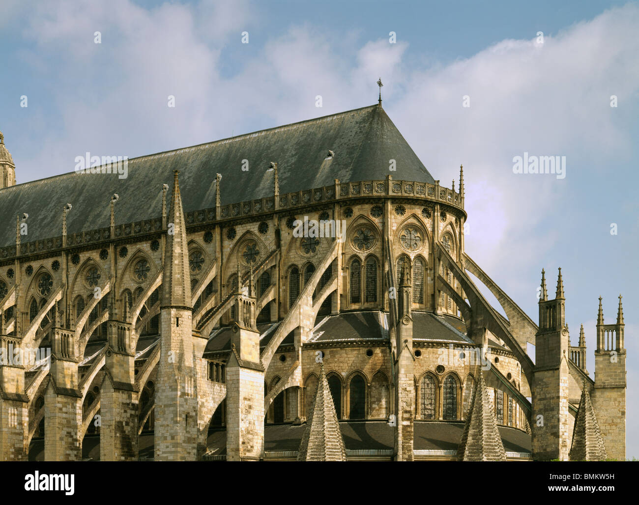 bourges cathedral of st etienne france flying buttresses on  - bourges cathedral of st etienne france flying buttresses on choir frenchgothic late th century