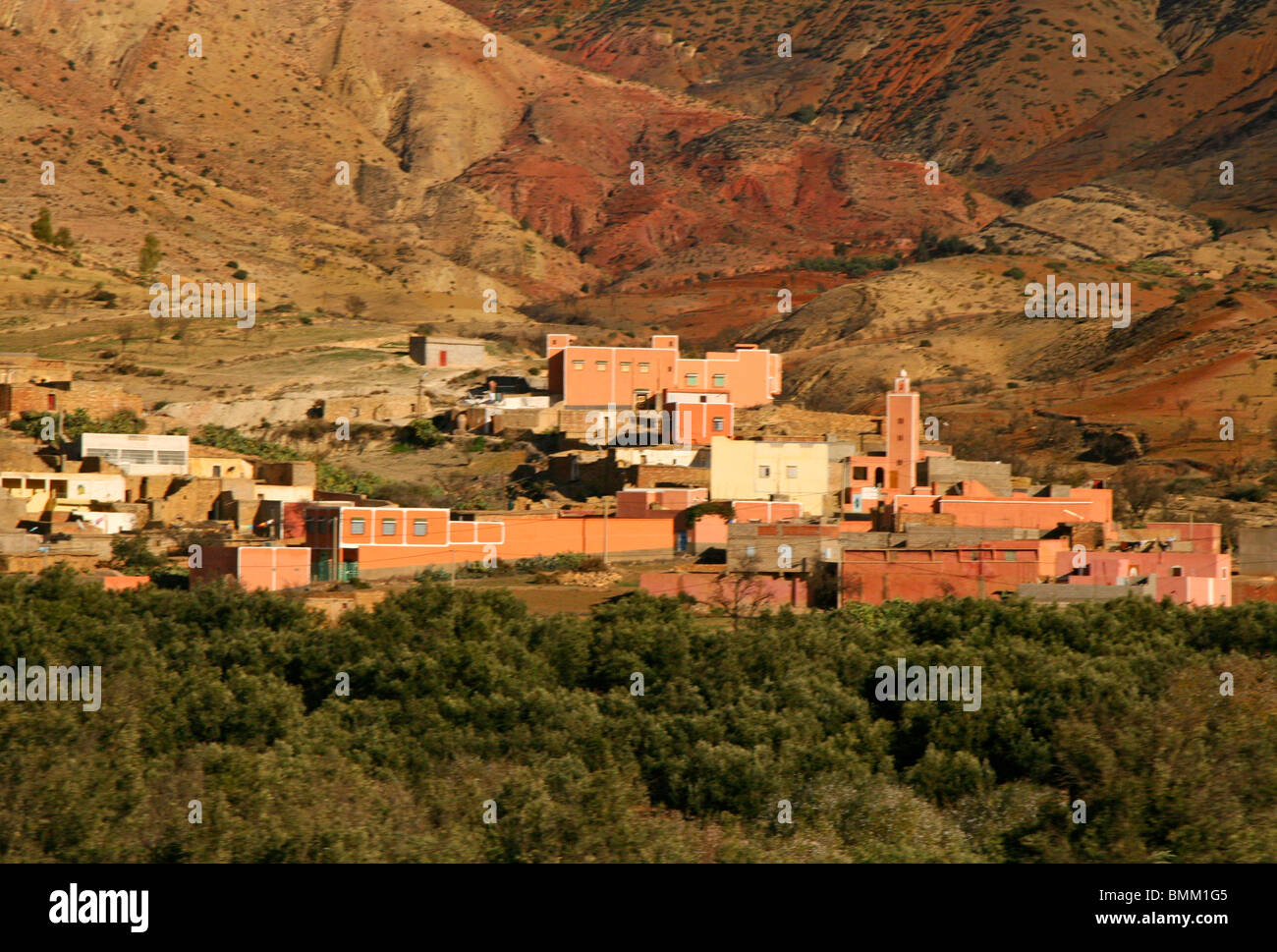 North africa africa morocco small village settlements dot the stock photo royalty free image - The tiny house village a miniature settlement ...