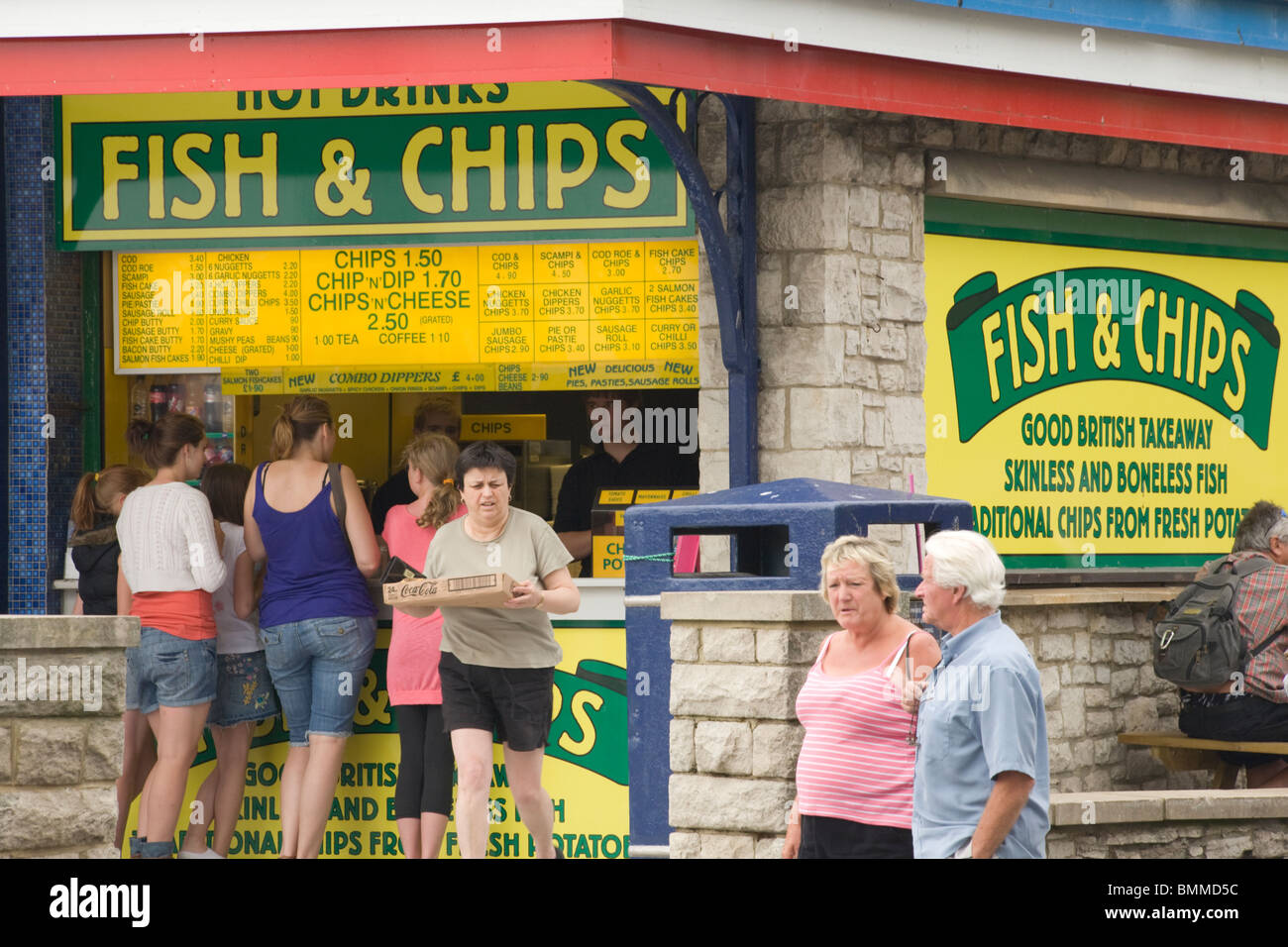 Fish and chip shop poole quay dorset stock photo for The fish shop