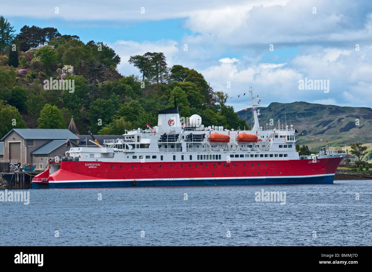 Cruise Ship Ms Expedition Moored In Oban Lorn Scotland Stock Photo ...