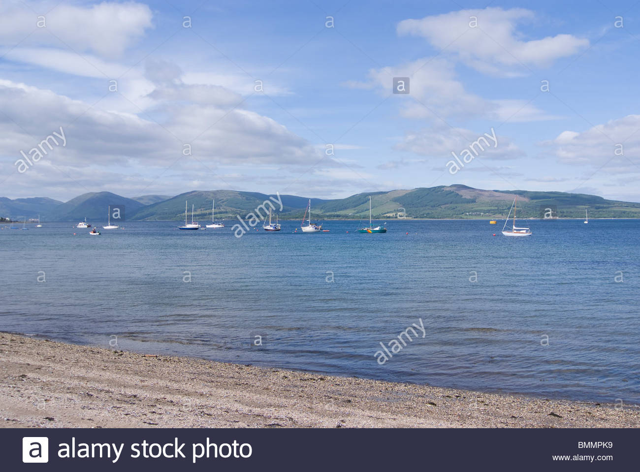 View Of Sail Boats In Rothesay Harbour Isle Of Bute