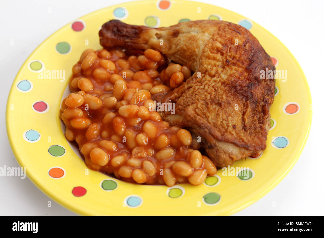 Stock Photo Roast Chicken With Baked Beans 29960478 on Food To Sell