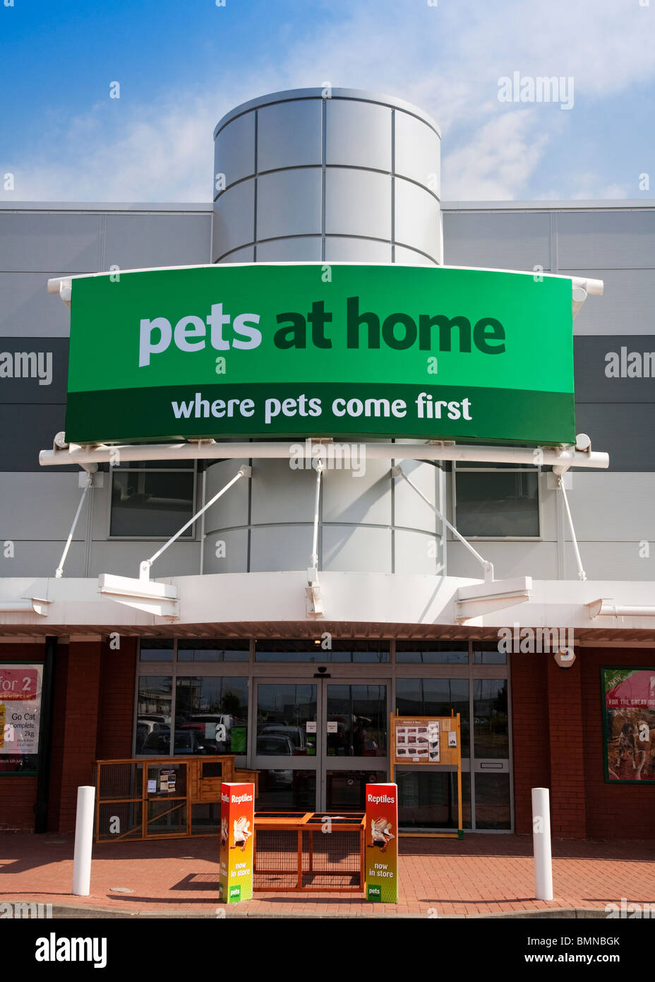At Home entrance to the pets at home store retail park linwood stock photo royalty free image