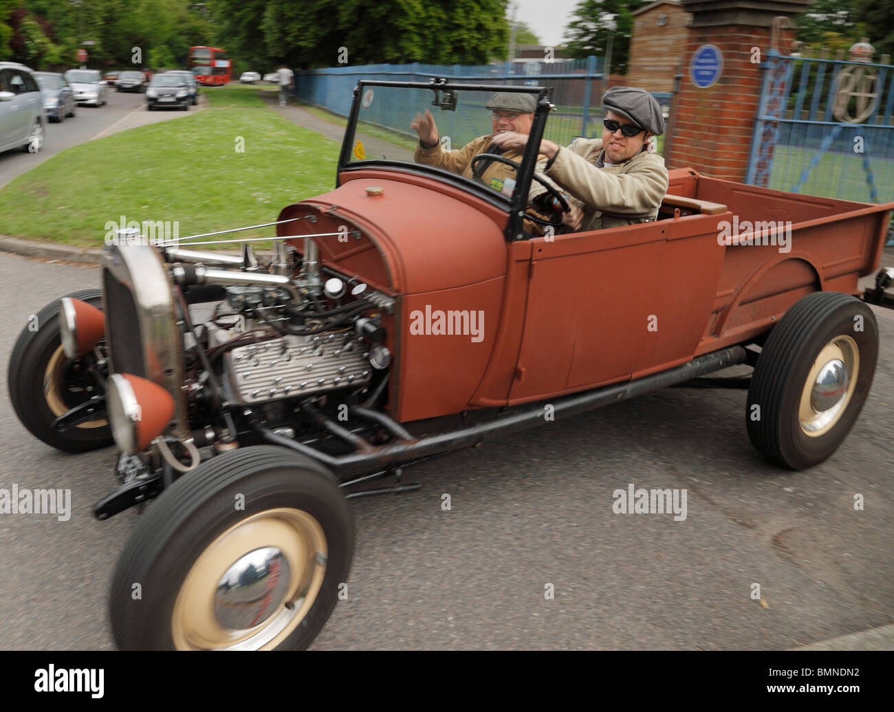 Customized pickup truck Hot Rod Stock Photo, Royalty Free Image ...