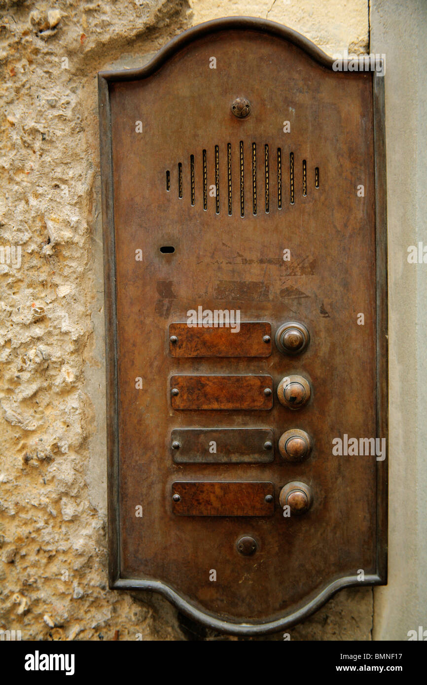 florence italy copper doorbells and apartment name