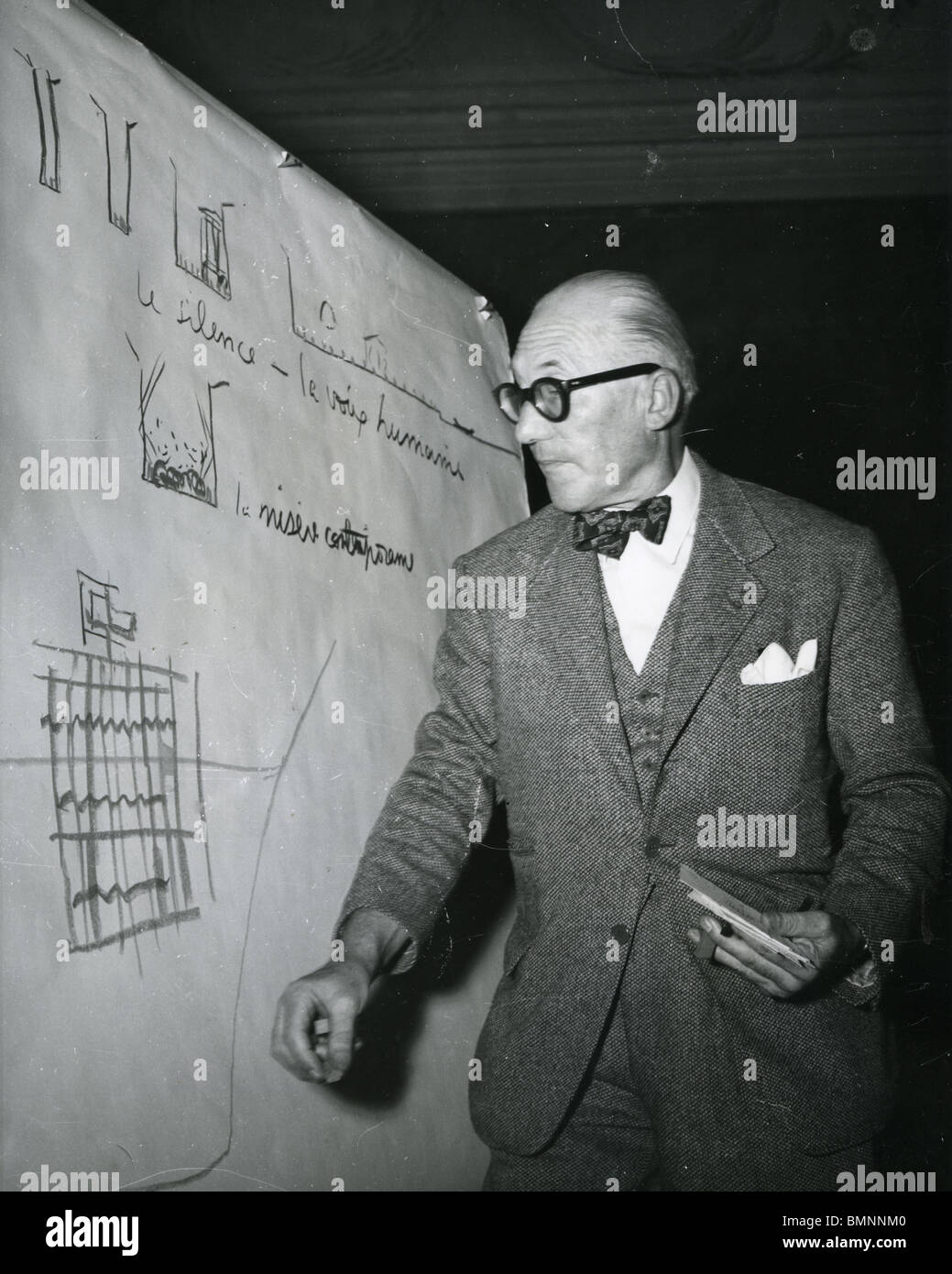 French Architect le corbusier - swiss-french architect giving a talk in venice on