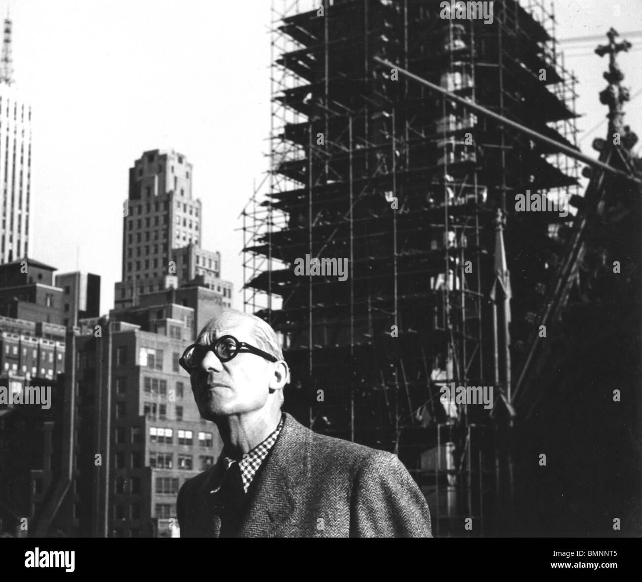 French Architect le corbusier - swiss-french architect (1887-1965) in new york