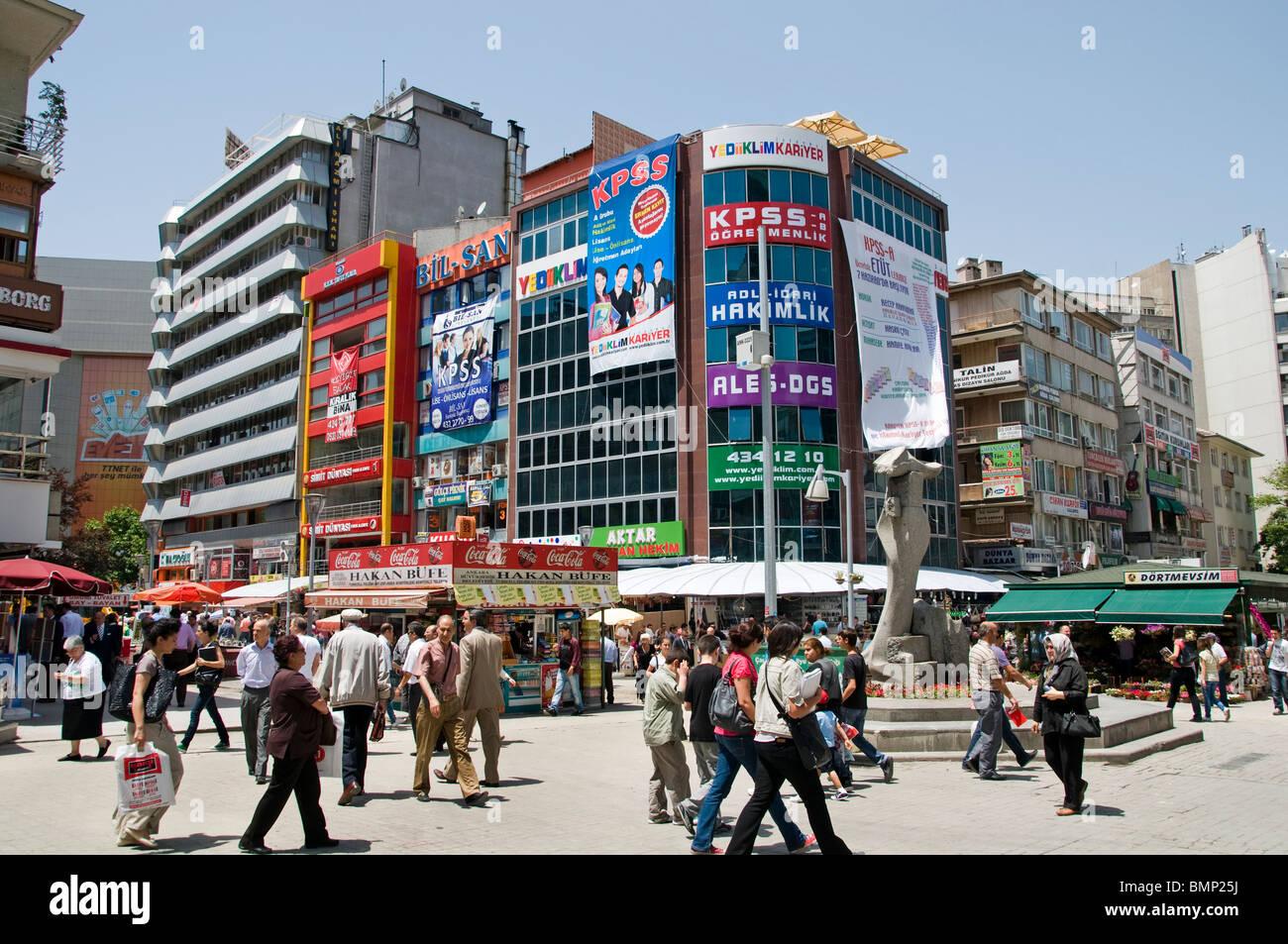 Ankara Kizilay shopping quarter street city Turkey Stock ...