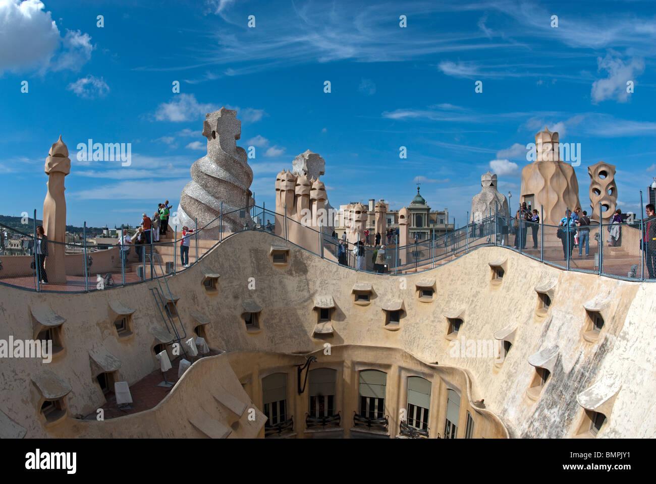 Barcelona, the works of Gaudi – Frontrange Imaging |Casa Mila Roof