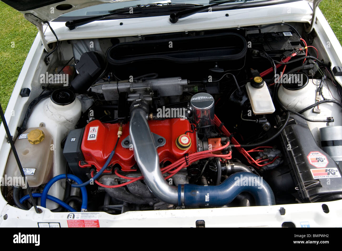 ford escort rs turbo engine bay high performance stock photo 30006510 alamy. Black Bedroom Furniture Sets. Home Design Ideas