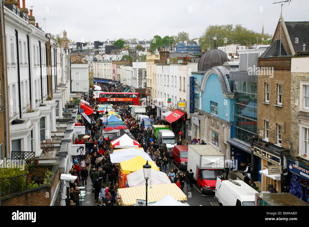 rooftop view of portobello road market notting hill london uk stock photo 30016545 alamy. Black Bedroom Furniture Sets. Home Design Ideas