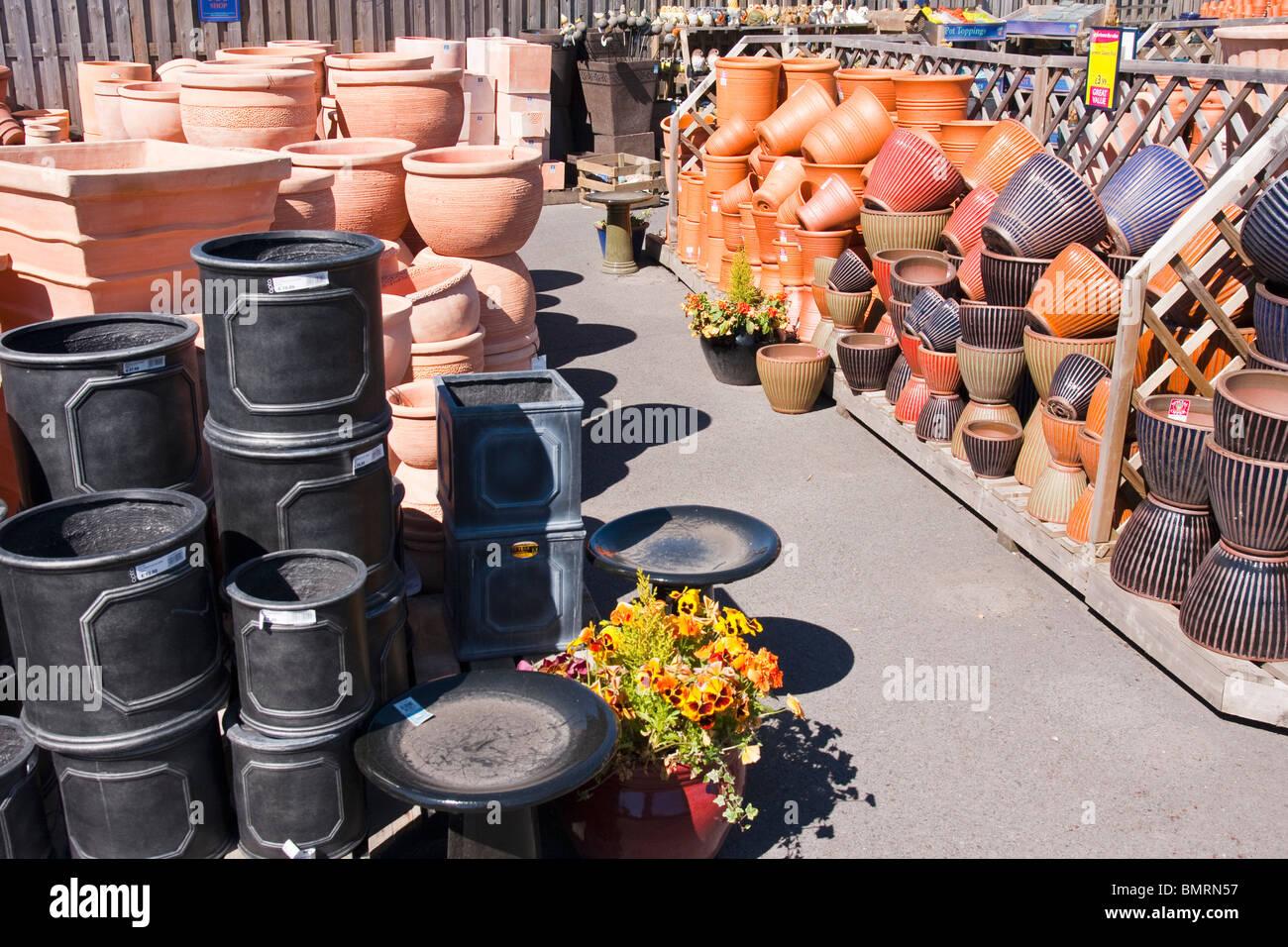 Plant Pots For Sale Part - 44: Plant Pots For Sale In A Garden Centre